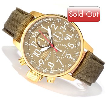606-767 - Invicta Men's I Force Lefty Quartz Chronograph Stainless Steel Case Strap Watch w/ Diver Case
