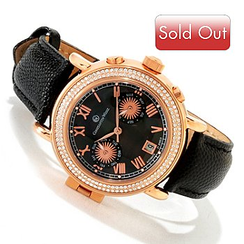 607-080 - Constantin Weisz Women's Automatic Stainless Steel Leather Strap Watch