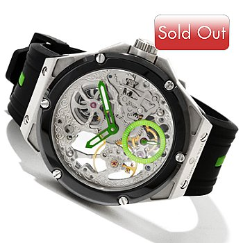 607-092 - Constantin Weisz Men's Double Escapement Mechanical Rubber Strap Watch