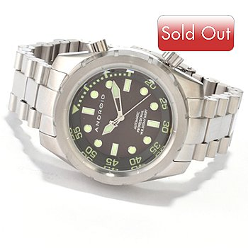 607-156 - Android Men's Armor 50 Automatic Stainless Steel Bracelet Watch