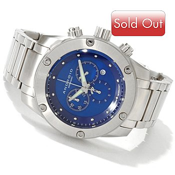 607-158 - Android Men's Antigravity Quartz Chronograph Stainless Steel Bracelet Watch