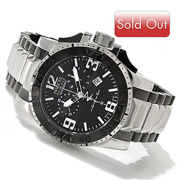 607-192 - Invicta Reserve Men's Excursion Swiss Made Quartz Chronograph Stainless Steel Bracelet Watch