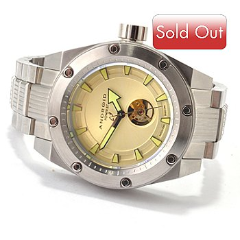 607-305 - Android Men's Powerjet Automatic Stainless Steel Bracelet Watch