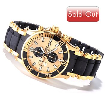 607-356 - Invicta Men's Sea Spider Quartz Chronograph Stainless Steel & Polyurethane Bracelet Watch