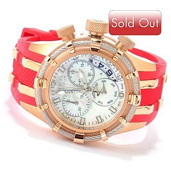 607-369 - Invicta Reserve Women's Bolt Swiss Made Quartz Chronograph Strap Watch w/ 3-Slot Dive Case