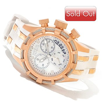 607-414 - Invicta Reserve Women's Bolt Swiss Made Quartz Chronograph Strap Watch w/ 3-Slot Dive Case