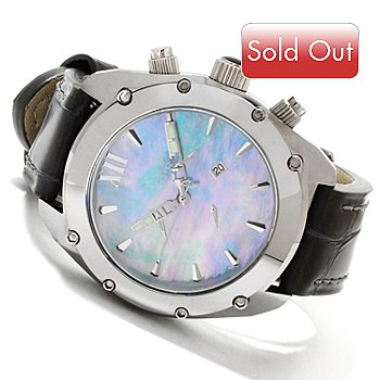 607-452 - Android Men's Virtuoso Swiss Quartz Chronograph Mother-of-Pearl Strap Watch