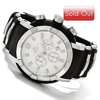 607-510 - Adee Kaye Men's Quartz Chronograph Stainless Steel Strap Watch