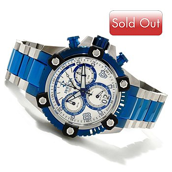 607-589 - Invicta Reserve Men's Arsenal Swiss Made Quartz Chronograph Bracelet Watch w/ 3-Slot Dive Case