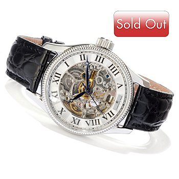 607-612 - Constantin Weisz Men's Automatic Stainless Steel Skeletonized Strap Watch