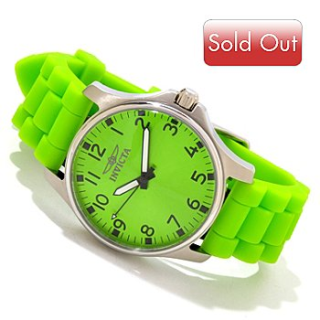 607-634 - Invicta Women's Angel Jellyfish Quartz Sunray Dial Stainless Steel Silicone Strap Watch