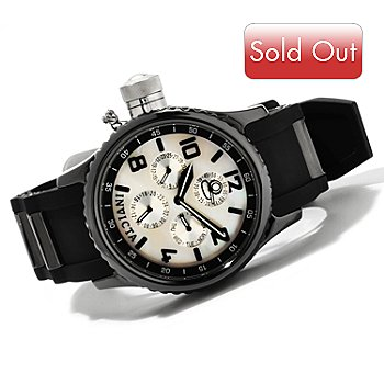 607-662 - Invicta Quinotaur Russian Diver Ceramic Quartz Multifunction Strap Watch