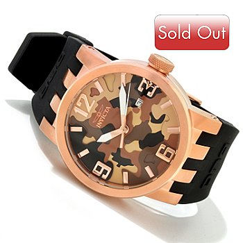 607-776 - Invicta Men's DNA Camo Stainless Steel Silicone Strap Watch