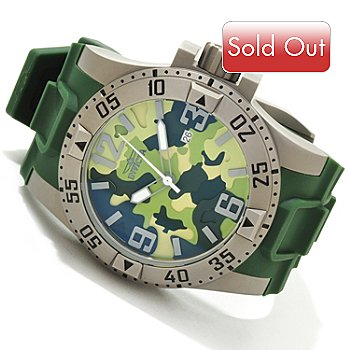 607-786 - Invicta Men's Excursion Camouflage Strap Watch w/ 3-Slot Dive Case