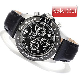 607-805 - Invicta Men's Speedway Quartz Chronograph Sunray Dial Strap Watch