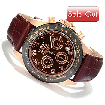 607-807 - Invicta Men's Speedway Quartz Chronograph Sunray Dial Strap Watch