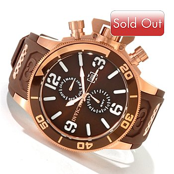607-818 - Invicta Men's Corduba Quartz GMT Stainless Steel Polyurethane Strap Watch