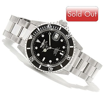 607-843 - Invicta Pro Diver Automatic Stainless Steel Case & Bracelet Watch