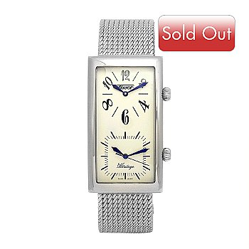 609-369 - Tissot Men's Prince Swiss Quartz Dual Time Mesh Bracelet Watch