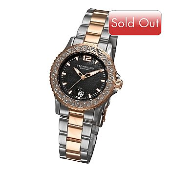 613-348 - Stührling Original Women's Regatta La Femma Quartz Stainless Steel Bracelet Watch
