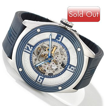 613-674 - Stuhrling Original Men's Millennia Five-O Automatic Strap Watch