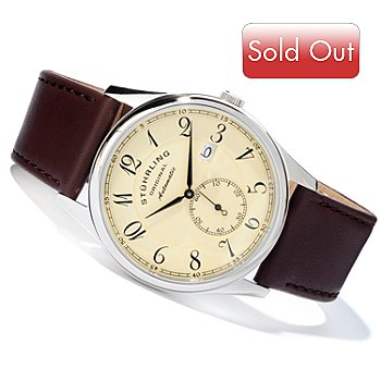 613-747 - Stuhrling Original Men's Cuvette Classic Automatic Strap Watch