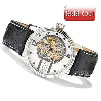 613-845 - Stuhrling Original Men's Prospero Skeleton Automatic Watch