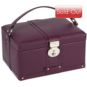 614-384 - Wolf Designs Saint Tropez 7.50'' Pebbled Leather Jewelry Case