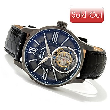 614-451 - Stuhrling Original Men's Vice Royale Tourbillon Limited Edition Crocodile Strap Watch