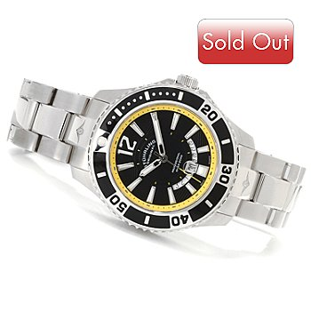 614-569 - Stuhrling Original Men's Regatta Diver Stainless Steel Bracelet Watch