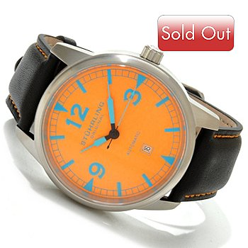 614-575 - Stuhrling Original Men's Tuskegee Thunderbolt Luminous Dial Strap Watch