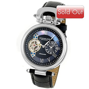 614-999 - Stuhrling Original Men's Emperor Dual Time Zone Strap Watch