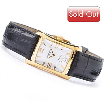 615-650 - Stuhrling Original Women's Gatsby Quartz Leather Strap Watch