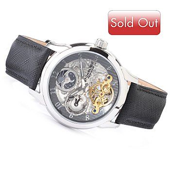 615-662 - Stührling Original Men's Tempest Dual Time Automatic Watch