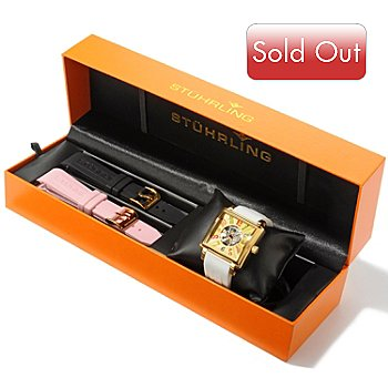 616-168 - Stührling Original Women's Manchester Ozzie Sport Edition Rubber Strap Watch Set