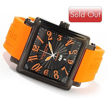 616-171 - Stührling Original Men's Manchester Ozzie XL Automatic Rubber Strap Watch
