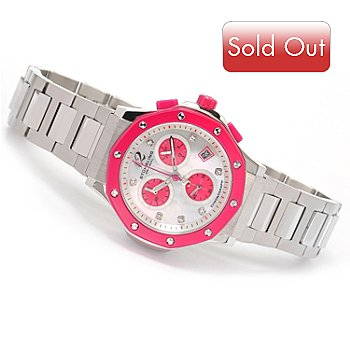 616-200 - Stührling Original Women's Apocalypse Cosmo Quartz Chronograph Stainless Steel Bracelet Watch