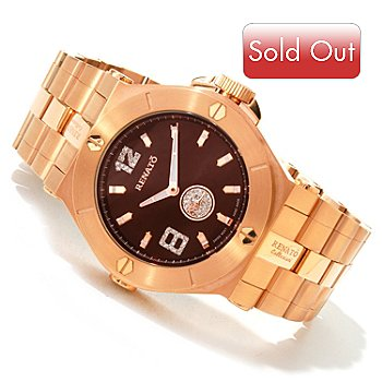 616-505 - Renato Men's or Women's Wilde-Beast Swiss Quartz Diamond Accented Bracelet Watch