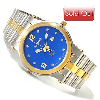 616-686 - Renato Men's Vintage Beast Swiss Quartz Diamond Accented Bracelet Watch