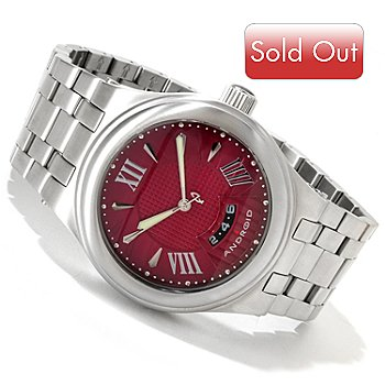616-746 - Android Men's Spiral Automatic Stainless Steel Bracelet Watch