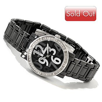616-778 - Invicta Women's Classique Ceramic Quartz Diamond Accented Bracelet Watch