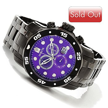 616-786 - Invicta Men's Scuba Pro Diver Quartz Chronograph Stainless Steel Bracelet Watch