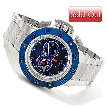 617-077 - Invicta Men's Subaqua Noma III Swiss Quartz Chronograph Stainless Steel Bracelet Watch