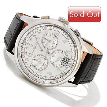 617-078 - Invicta Men's Vintage Collection Swiss Quartz Chronograph Leather Strap Watch
