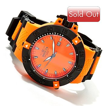 617-096 - Invicta Men's Subaqua Noma III Anatomic Quartz Sunray Dial Polyurethane Strap Watch