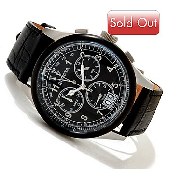 617-097 - Invicta Men's Vintage Collection Swiss Quartz Chronograph Leather Strap Watch
