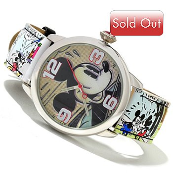 617-146 - Disney Women's Quartz Mickey Comic Strip Strap Watch