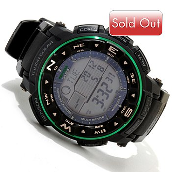 617-157 - Casio Men's ProTrek Quartz Atomic Solar Ana-Digi Rubber Strap Watch