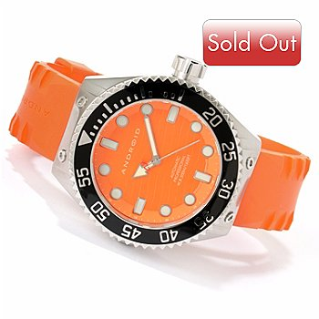 617-270 - Android Men's Divemaster Espionage 2 Automatic Rubber Strap Watch