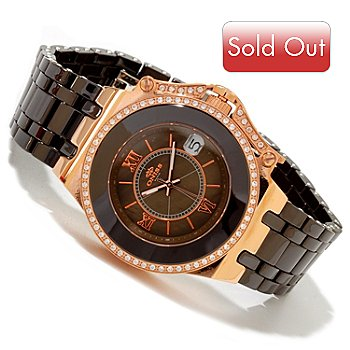 617-300 - Oniss Women's Fantasy Collection Quartz Mother-of-Pearl Ceramic Bracelet Watch